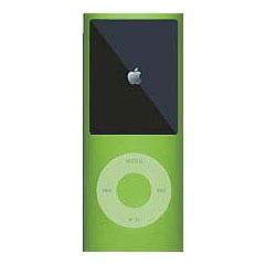MIPSK-NANO4GR [4th iPod nano用シリコン素材ジャケット型プロテクター nanoSkin4 グリーン]