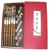 TS-浮世絵箸&箸置き [5セット]