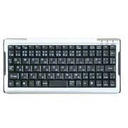 OWL-KB84SM(SV) [USB&PS/2接続 シンプル&コンパクト 84キー日本語キーボード シルバー/ブラック]