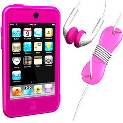 SUMLT2G-SKT-PK [iPod touch用 スターターキットセット ピンク Loop Silicon Case for iPod touch 2G Starter Kit]
