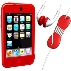 SUMLT2G-SKT-RD [iPod touch用 スターターキットセット レッド Loop Silicon Case for iPod touch 2G Starter Kit]