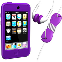 SUMLT2G-SKT-PL [iPod touch用 スターターキットセット パープル Loop Silicon Case for iPod touch 2G Starter Kit]