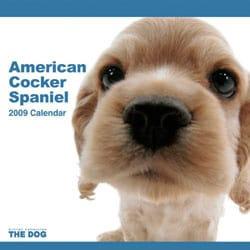 2009 カレンダー THE DOG アメリカン・コッカー・スパニエル