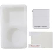 UAMASF02WH [iPod classic 120GB/80GB用 ジャケット+アダプタ+液晶保護フィルム 3点セット ホワイト]