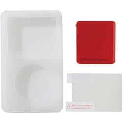 UAMASF02RD [iPod classic 120GB/80GB用 ジャケット+アダプタ+液晶保護フィルム 3点セット レッド]