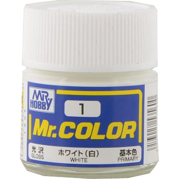 Mr.カラーC-1 [溶剤系アクリル樹脂塗料 ホワイト 光沢]
