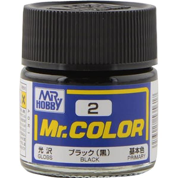 Mr.カラーC-2 [溶剤系アクリル樹脂塗料 ブラック 光沢]