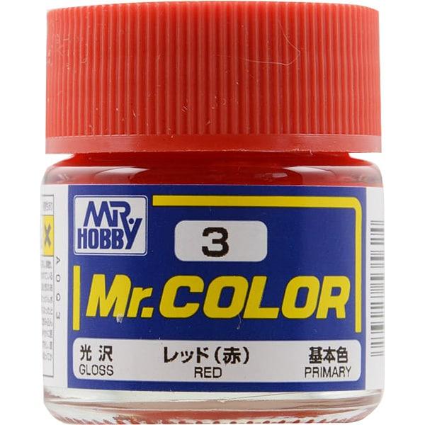 Mr.カラーC-3 [溶剤系アクリル樹脂塗料 レッド 光沢]