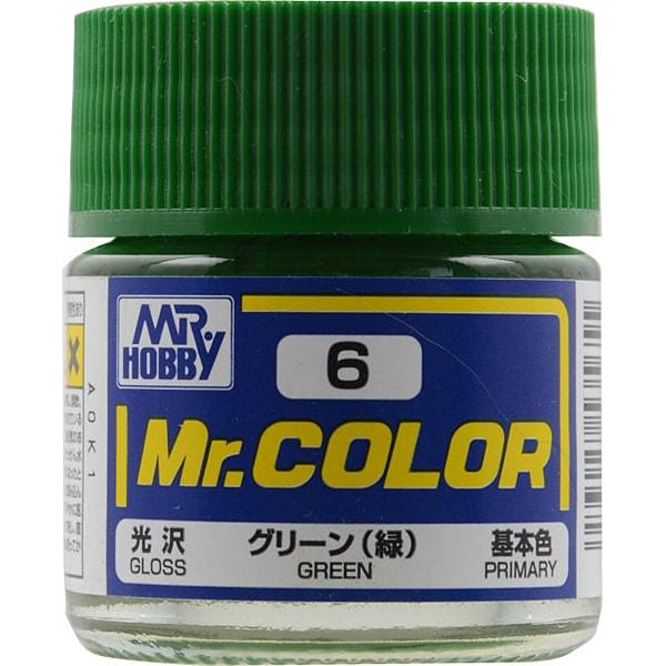 Mr.カラーC-6 [溶剤系アクリル樹脂塗料 グリーン 光沢]