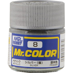 Mr.カラーC-8 [溶剤系アクリル樹脂塗料 シルバー メタリック]