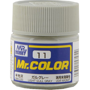 Mr.カラーC-11 [溶剤系アクリル樹脂塗料 ガルグレー 半光沢]