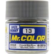 Mr.カラーC-13 [溶剤系アクリル樹脂塗料 ニュートラルグレー 半光沢]