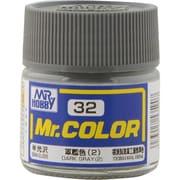 Mr.カラーC-32 [溶剤系アクリル樹脂塗料 軍艦色(2) 半光沢]