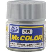 Mr.カラーC-35 [溶剤系アクリル樹脂塗料 明灰白色(半光三菱系) 半光沢]