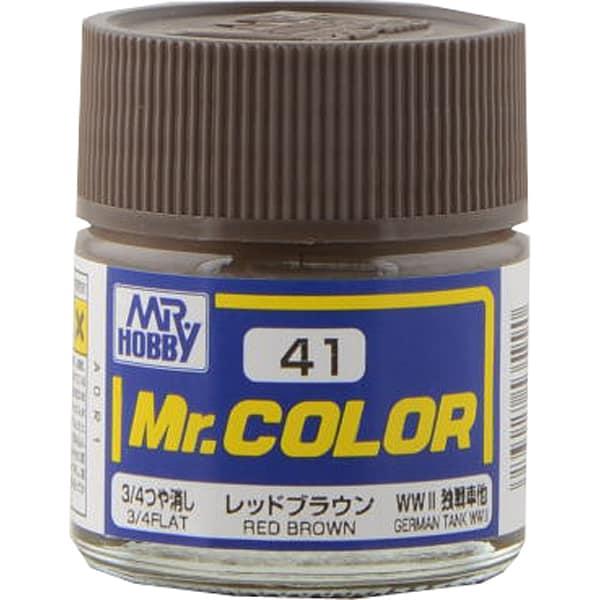 Mr.カラーC-41 [溶剤系アクリル樹脂塗料 レッドブラウン 3/4つや消し]