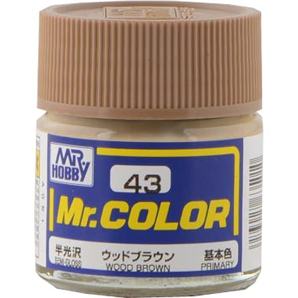 Mr.カラーC-43 [溶剤系アクリル樹脂塗料 ウッドブラウン 半光沢]