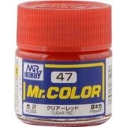 Mr.カラーC-47 [溶剤系アクリル樹脂塗料 クリアーレッド 光沢]