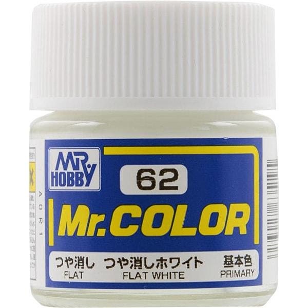Mr.カラーC-62 [溶剤系アクリル樹脂塗料 つや消しホワイト つや消し]