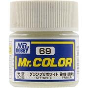 Mr.カラーC-69 [溶剤系アクリル樹脂塗料 グランプリホワイト 光沢]
