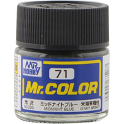 Mr.カラーC-71 [溶剤系アクリル樹脂塗料 ミッドナイトブルー 光沢]