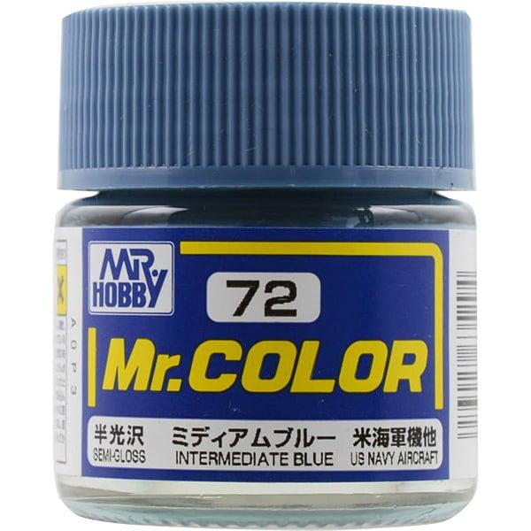 Mr.カラーC-72 [溶剤系アクリル樹脂塗料 ミディアムブルー 半光沢]