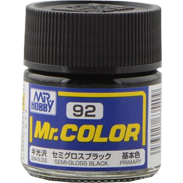 Mr.カラーC-92 [溶剤系アクリル樹脂塗料 セミグロスブラック 半光沢]