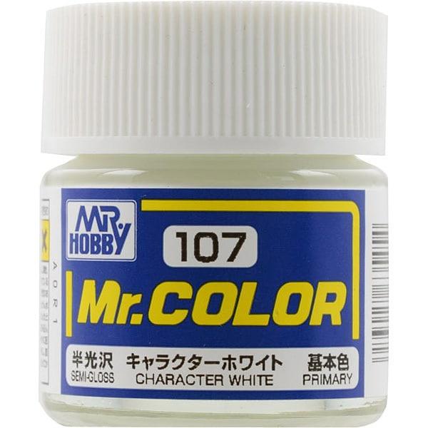 Mr.カラーC-107 [溶剤系アクリル樹脂塗料 キャラクターホワイト 半光沢]
