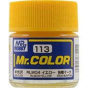 Mr.カラーC-113 [溶剤系アクリル樹脂塗料 RLM04 イエロー 半光沢]