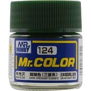 Mr.カラーC-124 [溶剤系アクリル樹脂塗料 暗緑色 (三菱系) 半光沢]