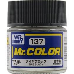 Mr.カラーC-137 [溶剤系アクリル樹脂塗料 タイヤブラック つや消し]