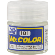 Mr.カラーC-181 [溶剤系アクリル樹脂塗料 スーパークリアー半光沢 半光沢]