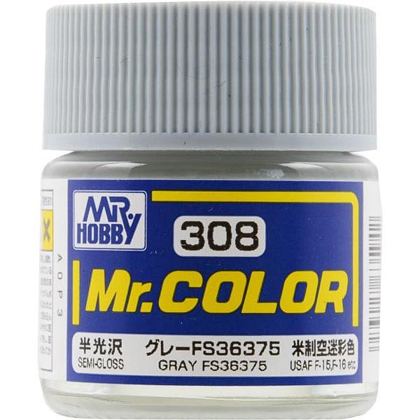 Mr.カラーC308 [溶剤系アクリル樹脂塗料 グレー FS36375 半光沢]