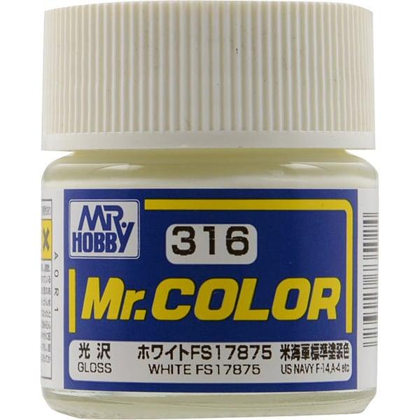 Mr.カラーC316 [溶剤系アクリル樹脂塗料 ホワイト FS17875 光沢]