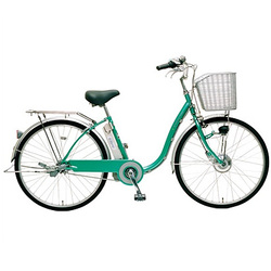 CY-SPF226-G-H [電動アシスト自転車(26型) グリーン 電動ハイブリッド自転車 eneloop bike(エネループバイク)]