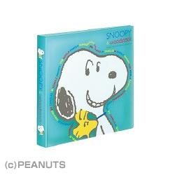 EDFSNC2071 [スヌーピー CD&DVDファイル1段タイプ 12枚収容 6枚シート 青]