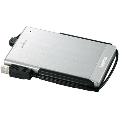 LHD-PBF500FU2SV [IEEE1394/USB2.0接続 外付ハードディスク シルバー 500GB]