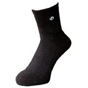 スポーツソックス セミロング [ブラック (25~27cm)]