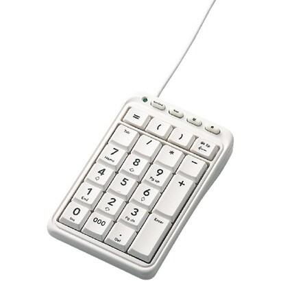 TK-TCM001WH [USB接続 テンキーパッド ホットキー付 ホワイト]