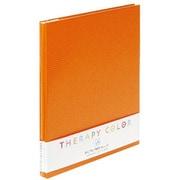 TCAF-A4N-RO [A4サイズビス式プラコート台紙アルバム セラピーカラー リフレッシュオレンジ]