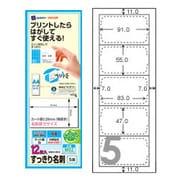 M02 [インクジェットラベル マット紙 すっきり名刺 両面印刷対応 A4ハーフシート 白 5面 12枚]
