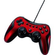 JC-U2912FRD [USB接続 ゲームパッド アナログ/デジタル対応 12ボタン レッド]