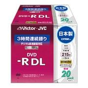 VD-R215CW20 [録画用DVD-R DL 215分 2-8倍速 CPRM対応 20枚 インクジェットプリンタ対応]