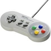 BSGP801GY [レトロ調 USBゲームパッド 8ボタンタイプ グレー]