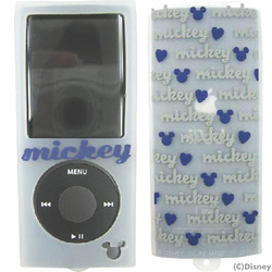 YU-515040 [第4世代 iPod nano用 ミュウポッズシリコンケース ホワイト×ネイビーブルー]