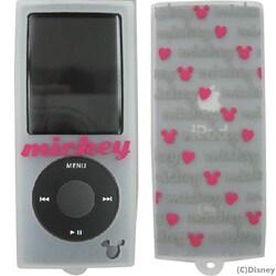 YU-515064 [第4世代 iPod nano用 ミュウポッズシリコンケース ホワイト×ヴィヴィットピンク]