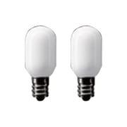 100V1CTL2P [白熱電球 小丸電球 E12口金 5W 20mm径 T形 ホワイト 2個入]