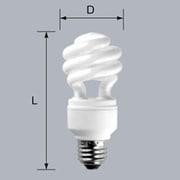 EFD15ED12EB2P [電球形蛍光灯 スパイラルピカファン プラス E26口金 3波長形昼光色 D15形(12W) 2個入]