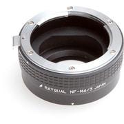 NF-M4/3 [マウントアダプター レンズ側:ニコンF ボディ側:マイクロフォーサーズ]