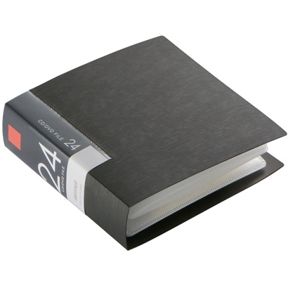 BSCD01F24BK [CD/DVDファイル ブックタイプ 24枚収納 ブラック]