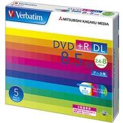 DTR85HP5V1 [データ用DVD+R DL 片面2層 8.5GB 2.4-8倍速対応 5枚 インクジェットプリンタ対応]